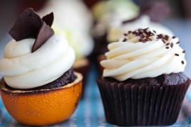 Orange-Scented and Brown Velvet cupcakes from Urban Cookie in Ph